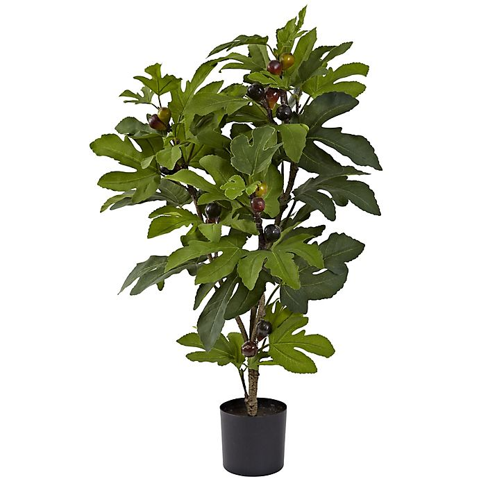 Nearly Natural 32 Inch Artificial Fig Tree Bed Bath Beyond