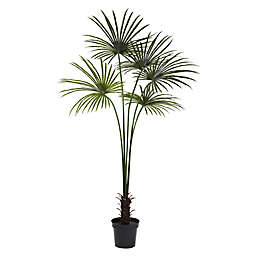 Nearly Natural 7-Foot Artificial Indoor/Outdoor Fan Palm Tree