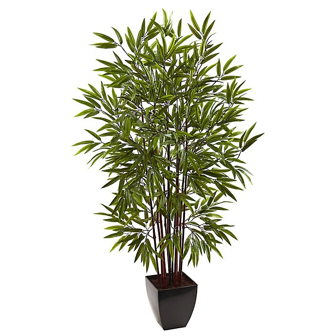 Alternate image 1 for Nearly Natural 5-Foot Bamboo Artificial Tree with Planter