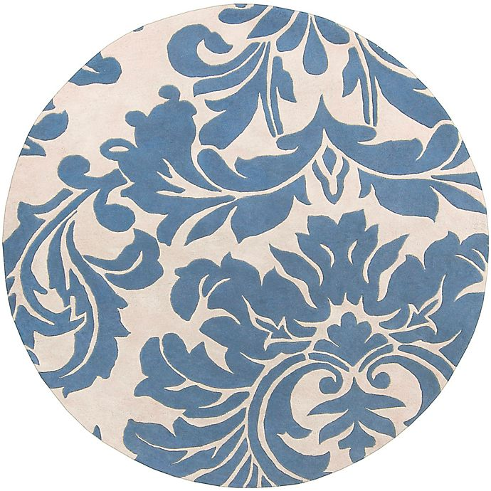 Alternate image 1 for Surya Athena Medallion 4' Round Hand Tufted Area Rug in Blue