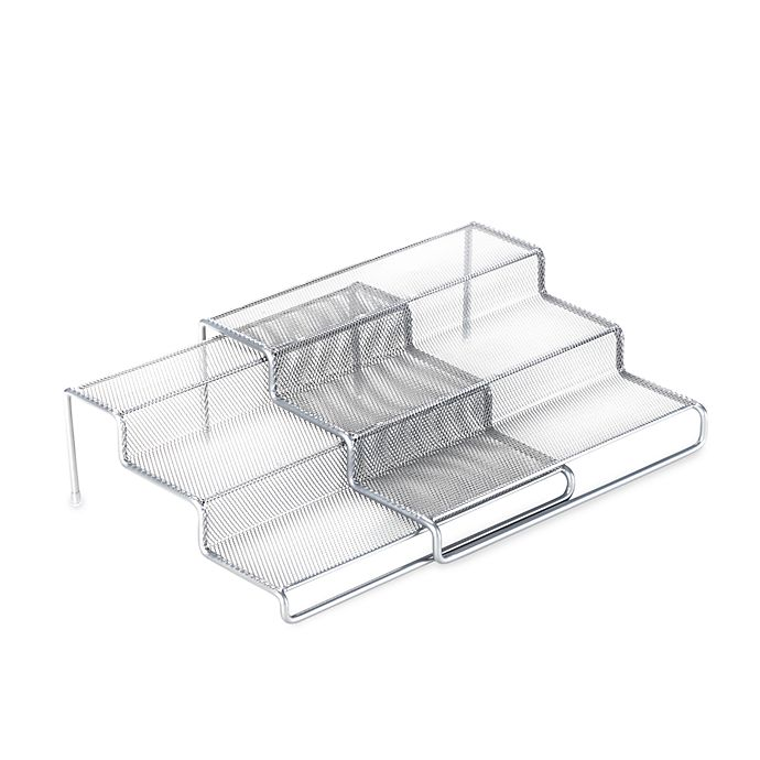 Alternate image 1 for .ORG 3-Tier Expandable Metal Mesh Shelf