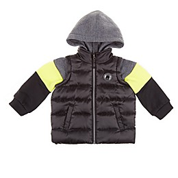 iXtreme Midweight Jacket Vest with Sweatshirt Sleeves in Black