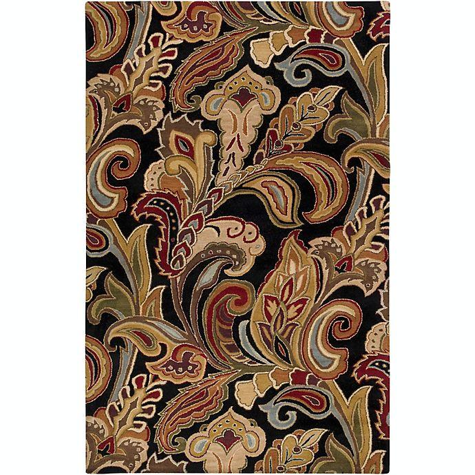 Alternate image 1 for Surya Aurora Floral Handcrafted Rug in Black/Brown