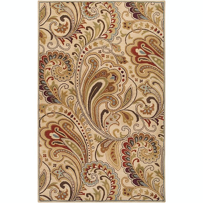 Alternate image 1 for Surya Aurora Floral Hand-Tufted 5' x 8' Area Rug in Neutral/Brown