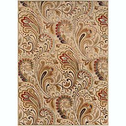 Surya Aurora Floral Hand-Tufted Area Rug in Neutral/Brown