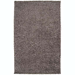 Surya Taz 5' x 8' Shag Area Rug in Medium Grey