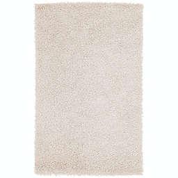 Surya Vivid Shag 2'6 x 4'2 Accent Rug in White