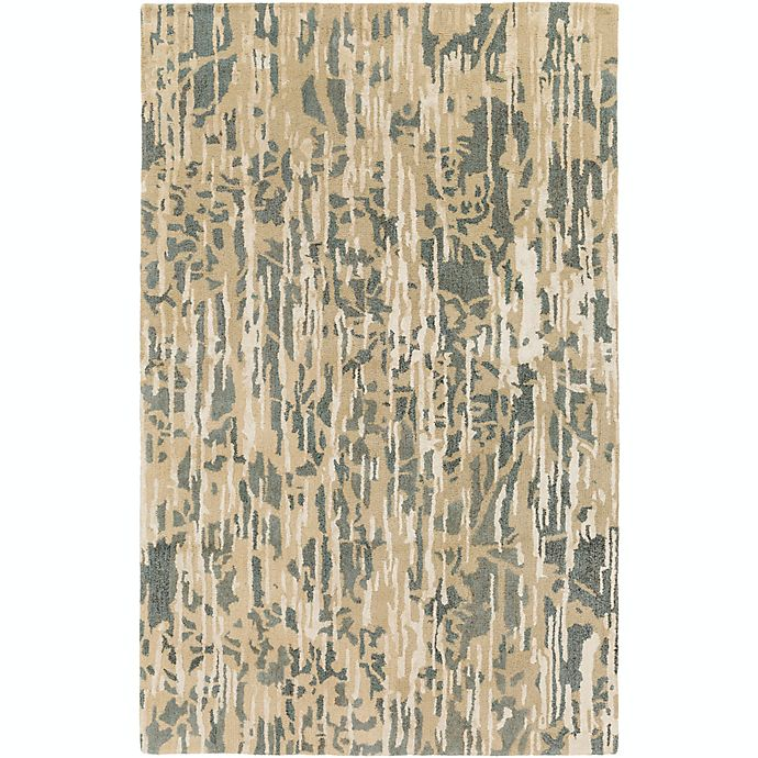 Alternate image 1 for Surya Zephyr 5' x 7'6 Hand Tufted Area Rug in Tan/Teal