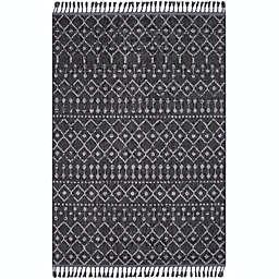 Surya Restoration Bohemian Area Rug in Black/Grey