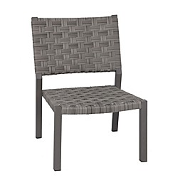 Destination Summer Stackable Wide Patio Chair in Brown