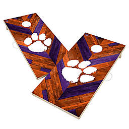 Clemson University Tigers Herringbone Cornhole Set