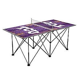 Texas Christian University Horned Frogs Pop Up Table Tennis Set