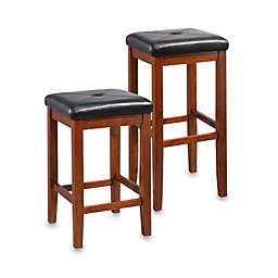 Crosley Upholstered Square-Seat Bar Stools (Set of 2)