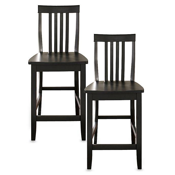 Buy Crosley School House 24 Inch Barstools In Black Set