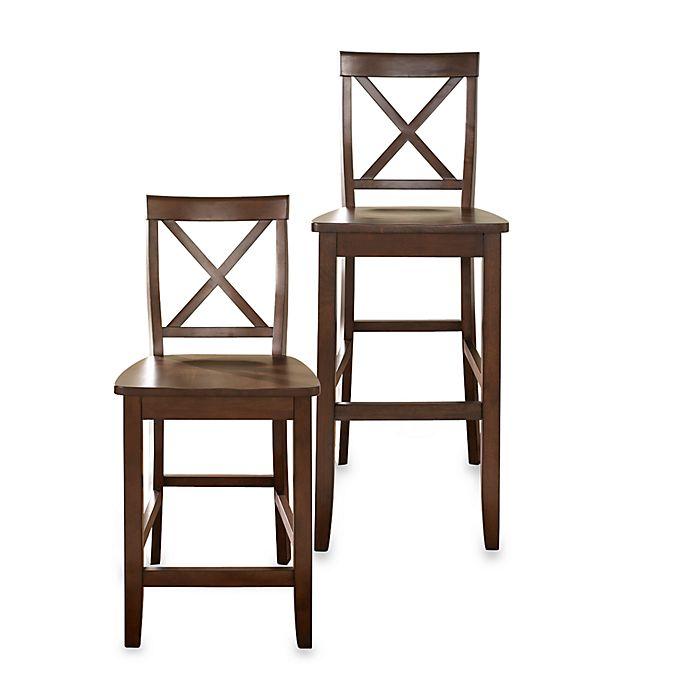 Astonishing Crosley X Back Counter Stool Set Of 2 Creativecarmelina Interior Chair Design Creativecarmelinacom