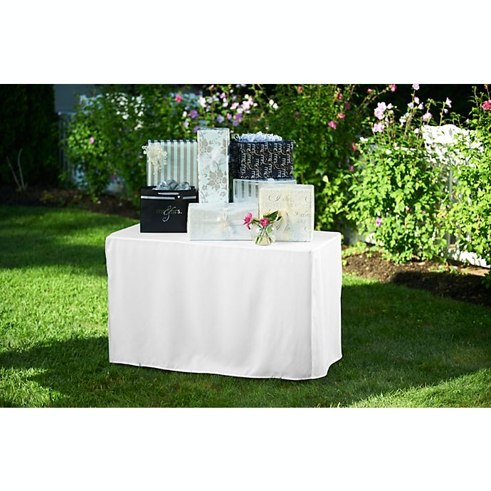 Alternate image 1 for 4-Foot Table Cover in White
