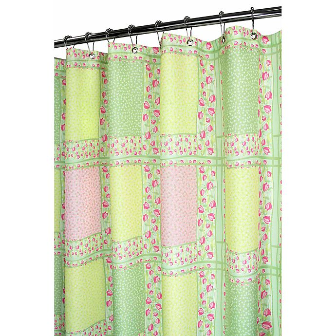 Park B Smith Tulip Patchwork Punch 72 X Watershed Shower Curtain