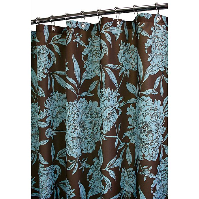Park B Smith Peony Coffee Bean 72 X Watershed Shower Curtain