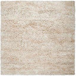 Surya Berkley 8' Square Shag Area Rug in Cream
