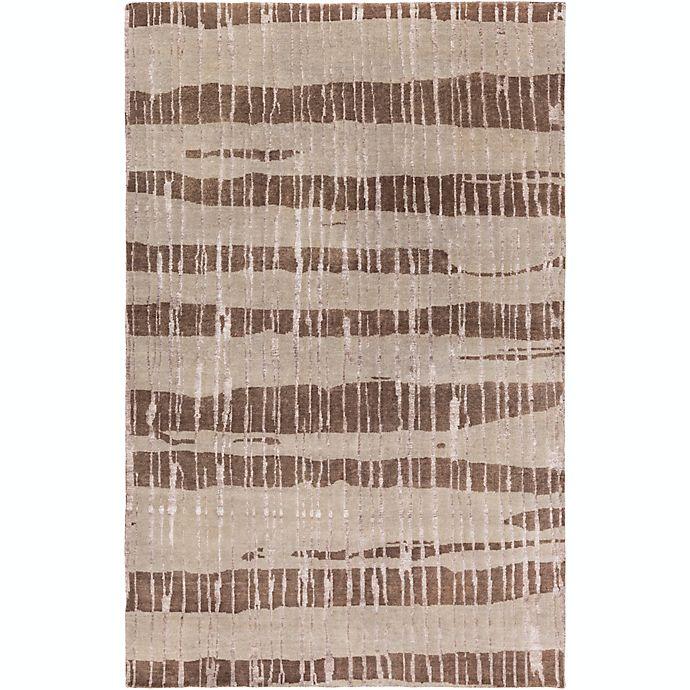 Alternate image 1 for Surya Luminous Stripe 9' x 13' Area Rug in Dark Brown/Taupe