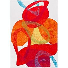 Surya Pippy Modern Rug in Red/Orange