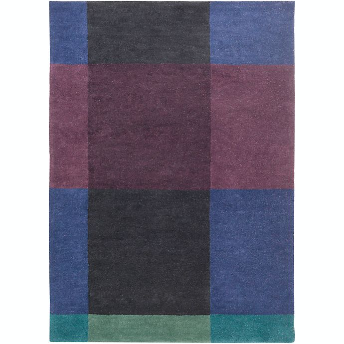 Alternate image 1 for Surya Plaid Modern 8' x 11' Area Rug in Navy/Eggplant