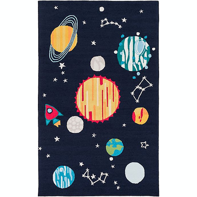 Alternate image 1 for Surya Peek-a-Boo Hand Knotted Rug in Navy