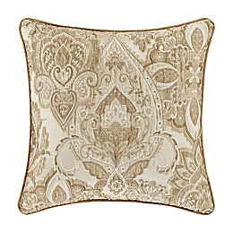 J. Queen New York™ Sandstone Damask Square Throw Pillow in Beige