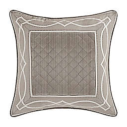 J. Queen New York™ Deco 20-Inch Square Decorative Throw Pillow in Silver