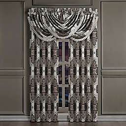 J. Queen New York™ Desiree 2-Pack 84-Inch Rod Pocket Window Curtain Panels in Silver