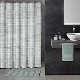 72-Inch x 72-Inch ALFIO Ticking Stripe Shower Curtain