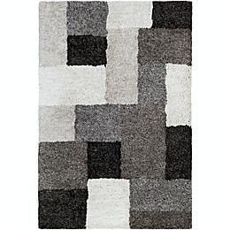 Surya Koryak Blocks Rug in Black/Ivory
