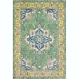 Surya Aura 7'10 x 10'3 Silk Area Rug in Lime