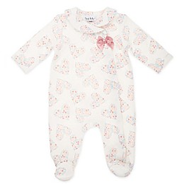 Nicole Miller NY Quilted Heart Footie in Ivory