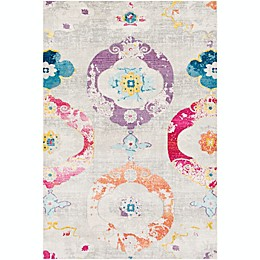Surya Aura Silk Bohemian Rug in Purple
