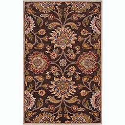 Surya Caesar 4' x 6' Hand Tufted Accent Rug in Brown/Red