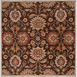 Surya Caesar 4' Square Hand Tufted Area Rug in Brown/Red