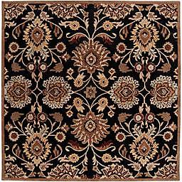 Surya Caesar 6' Square Hand Tufted Area Rug in Black/Brown