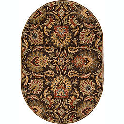Surya Caesar Classic Oval Handcrafted Area Rug in Brown/Rust