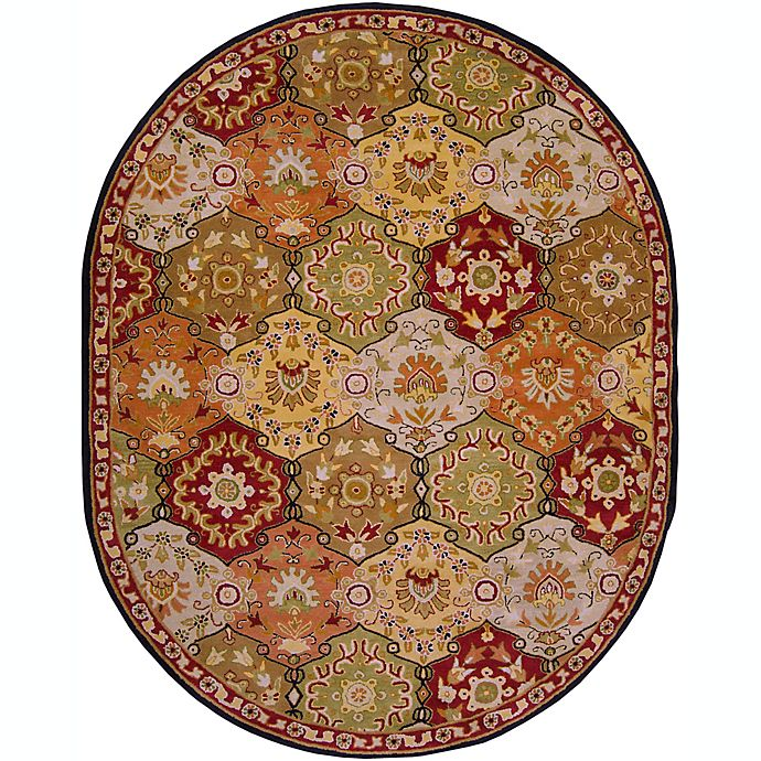 Alternate image 1 for Surya Caesar Floral Medallion Hand Tufted Oval Area Rug
