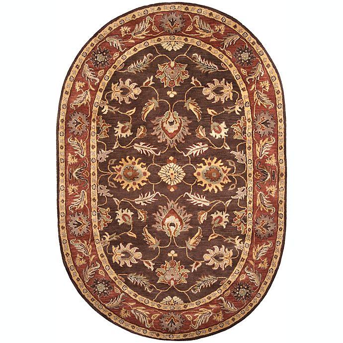Alternate image 1 for Surya Caesar Classic Floral 6' x 9' Oval Rug in Dark Brown