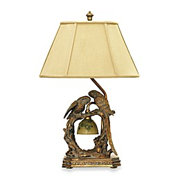 Dimond Lighting Parrot Duo Table Lamp with Fabric Shade