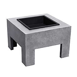 Square Modern Wood-Burning Fire Pit