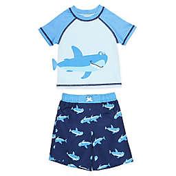 Freestyle Revolution Shark Rashguard 2-Piece Swimsuit