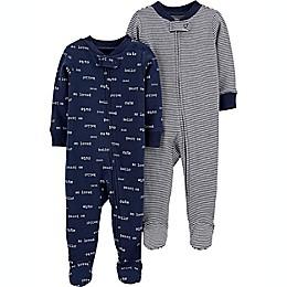 carter's® Preemie 2-Pack Sleep and Play Pajamas
