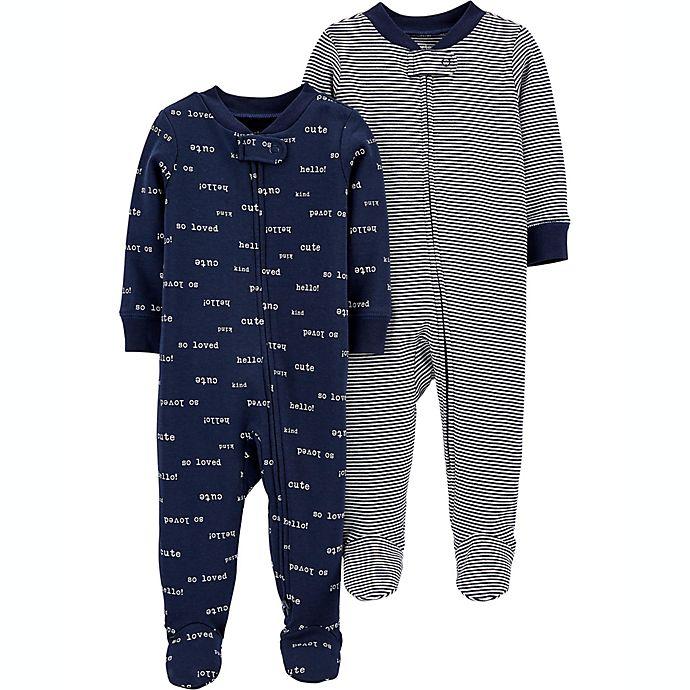 Alternate image 1 for carter's® Preemie 2-Pack Sleep and Play Pajamas
