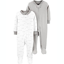 carter's® Preemie 2-Pack Sleep and Play Pajamas