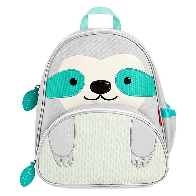 Alternate image 1 for SKIP*HOP® Zoo Sloth Zoo Backpack in Grey/White