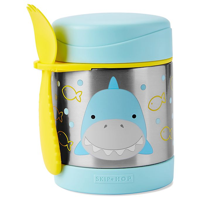 Alternate image 1 for SKIP*HOP® Zoo 2-Piece Shark Jar and Spork Set in Blue