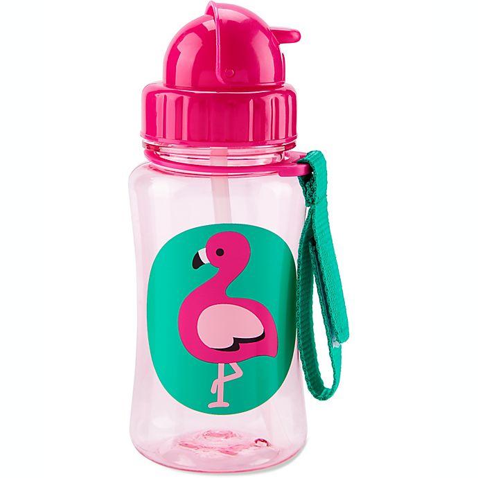 Alternate image 1 for SKIP*HOP® Zoo 12 oz. Flamingo Straw Bottle